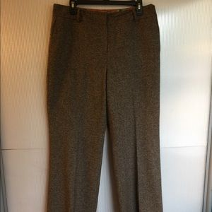 TALBOTS BROWN TWEED PANTS SIZE 12